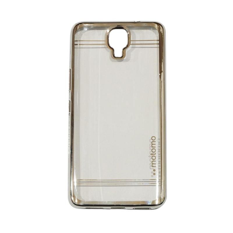 Motomo Luxury Shining Chrome Silicone Softcase Casing for Infinix Note 4 X572 - Silver