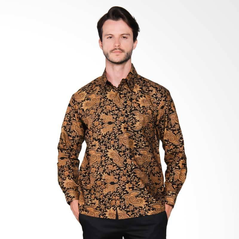 AWANA Parang Samudra Emas Modern Slim Fit Kemeja Batik Pria