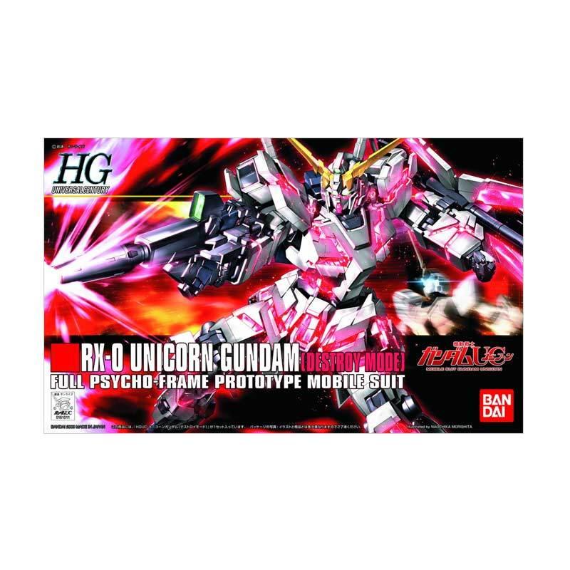 Bandai HGUC RX-0 Unicorn Gundam Destroy Mode Model Kit [1:144]