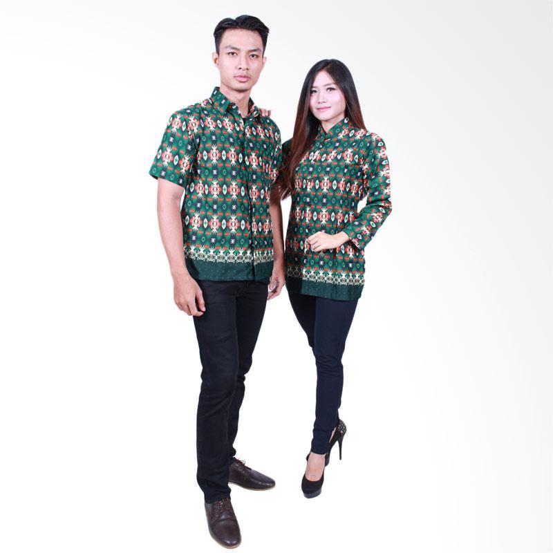 Batik Putri Ayu Solo SRB500 Batik Sarimbit Baju Batik Couple - Hijau