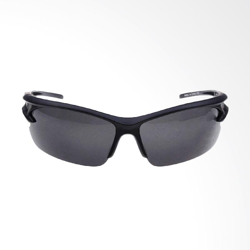 QCF Kacamata Anti Silau Riding Glasses Sport Edition Kacamata Free Pouch - Hitam