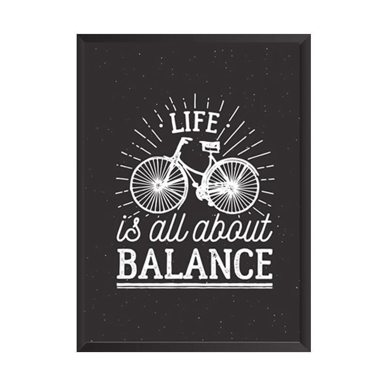 Cadrehome Life Is Balance A4 Dekorasi Dinding