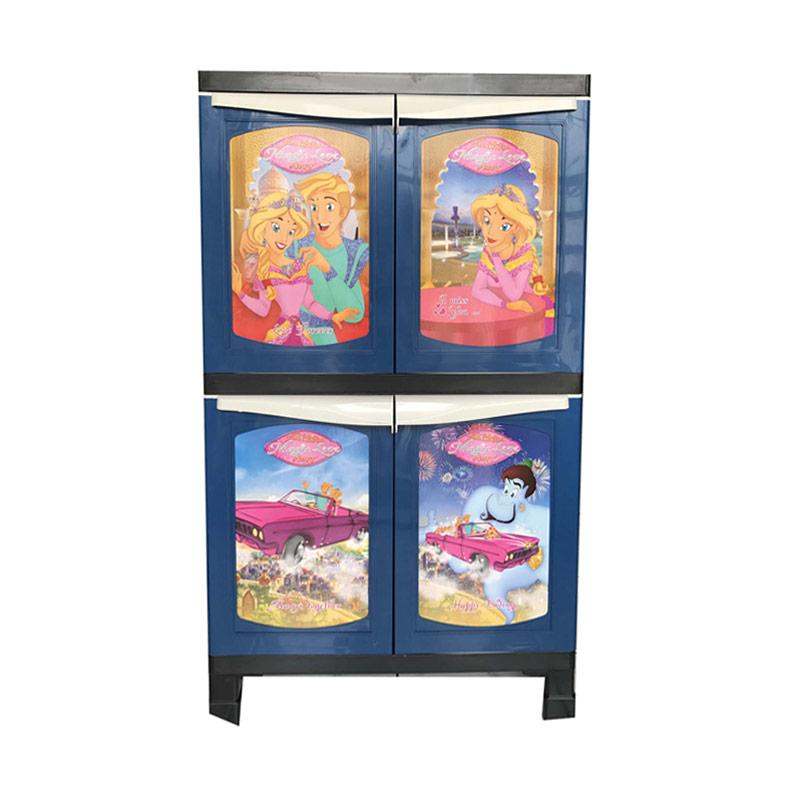 Best Furniture Davinci 1124 Glossy Lemari Plastik 2 Susun [65 x 45 x 115 cm]