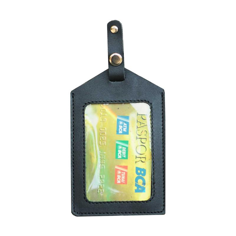 harga Leather Castle Name Tag Jepit Saku Id Card Holder Blibli.com