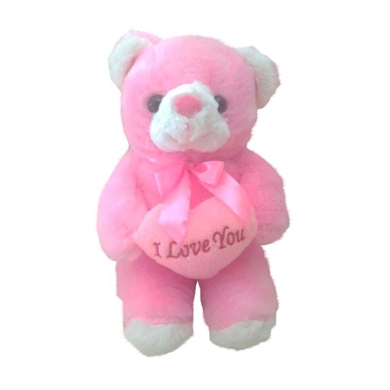Istana kado IKO00872 Boneka Little Teddy Bear Love Promo M - Putih Pink