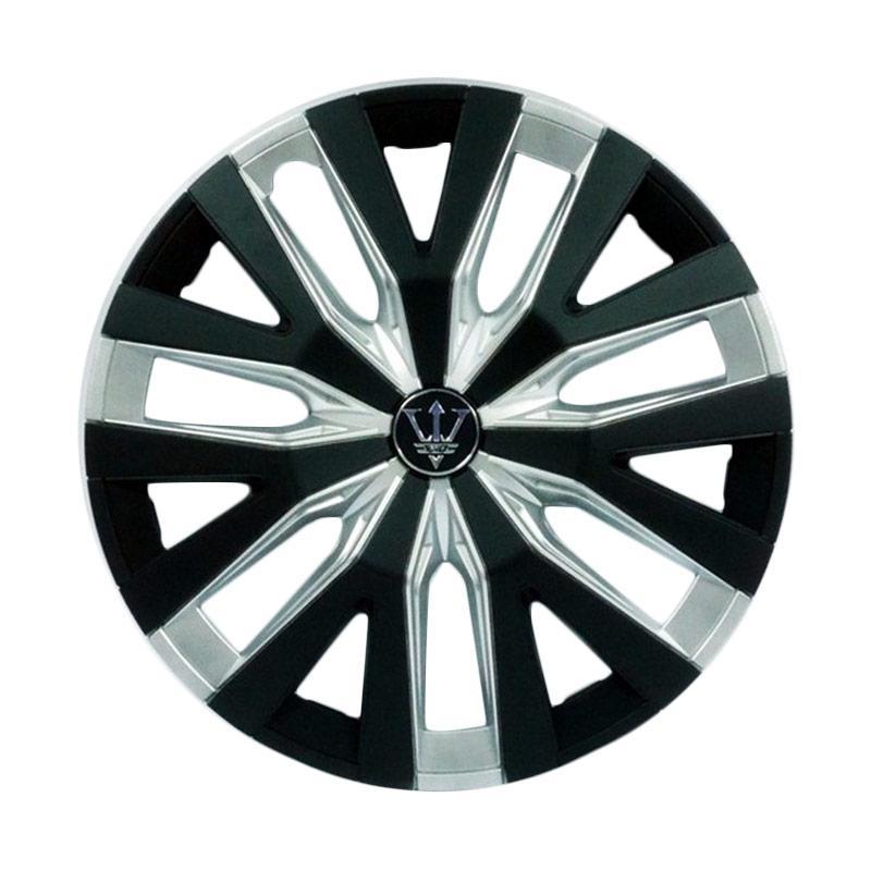 SIV WD4-1SL-14 Inch Sport Wheel Cover Evolution Design Dop Roda Mobil - Black Silver