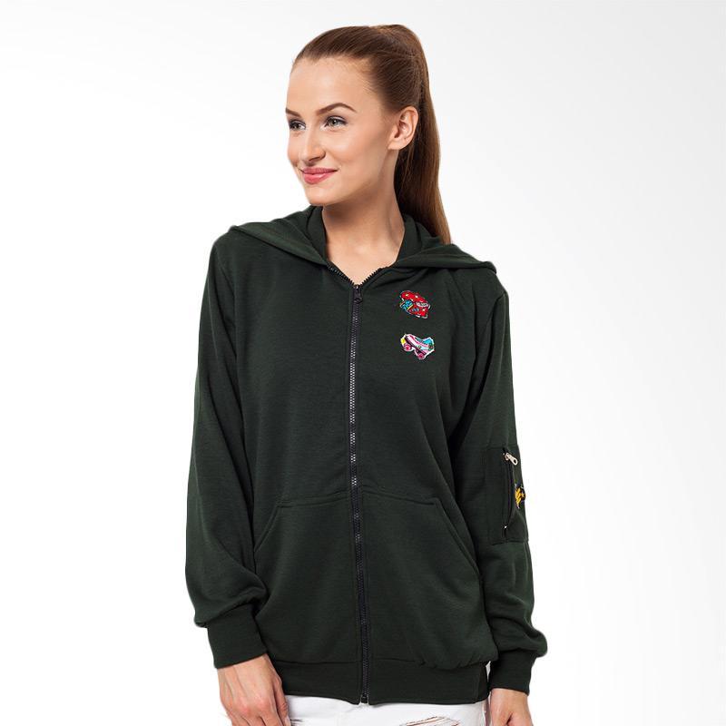 Boontie Aiko Jacket Bomber Wanita - Green
