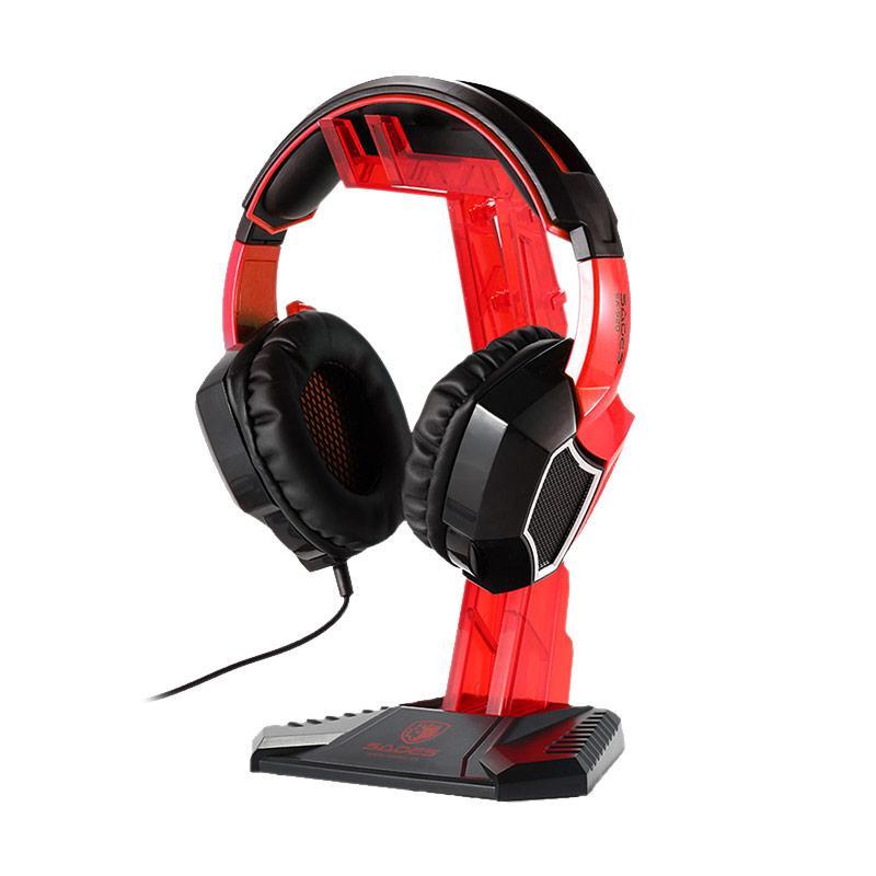 harga Sades Universal Gaming Headphone Hanger - Red Blibli.com