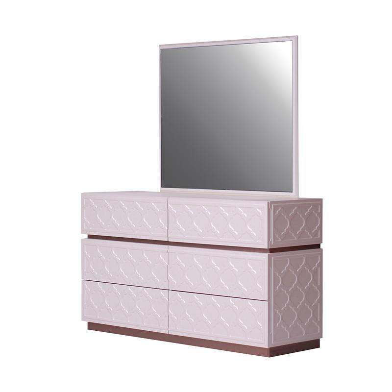 Thema Home 1122 Dresser & Mirror Oxford - Leather Cream 1-2  [Wilayah Surabaya]