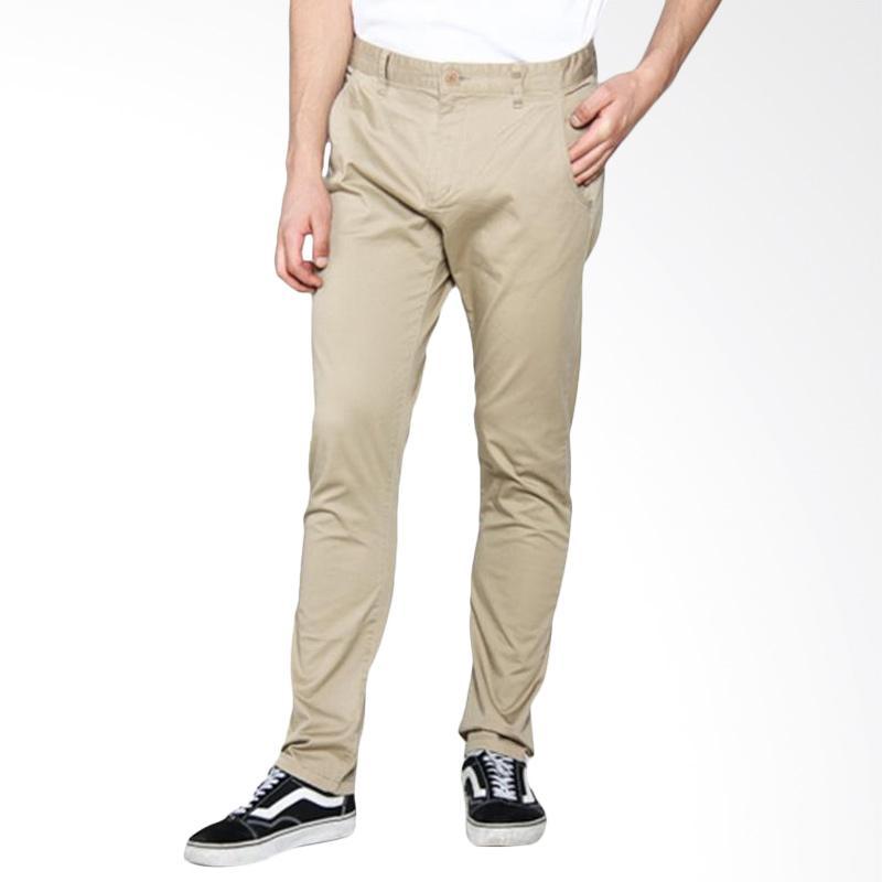 harga Moutley Chinos Celana Panjang Pria - Cream Blibli.com
