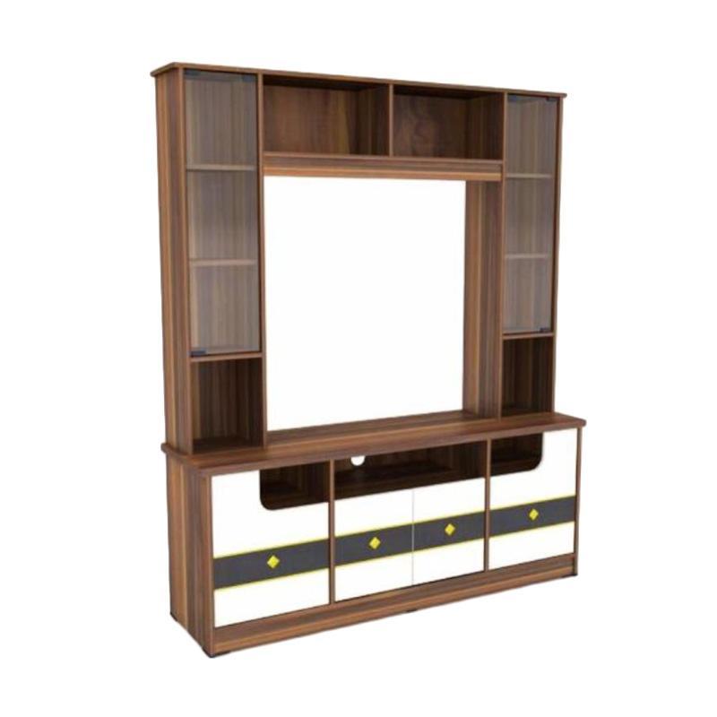 MD Furniture Tinggi Kombinasi Lemari Rak TV [Khusus Jakarta dan Sekitarnya]