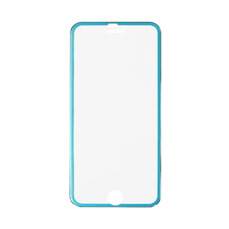 QCF Tempered Glass Ring Besi Aluminium Screen Protector for Apple iPhone 7 Plus / iPhone 7Plus / Iphone 7+ 5.5 Inch Pelindung Layar - Blue