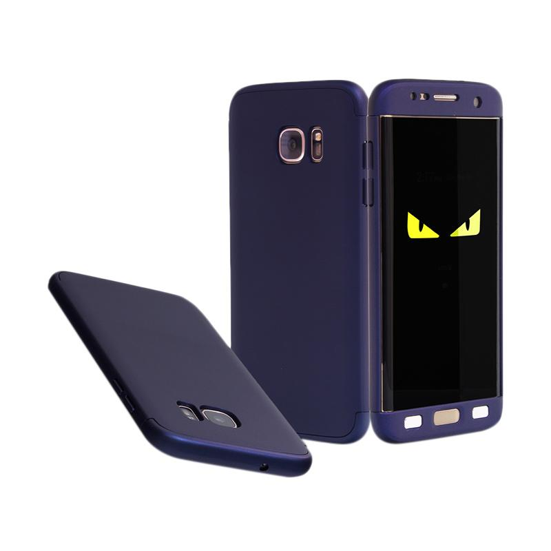 HM 360 Full Protection Hardcase Casing for Samsung S7 Edge - Blue Navy