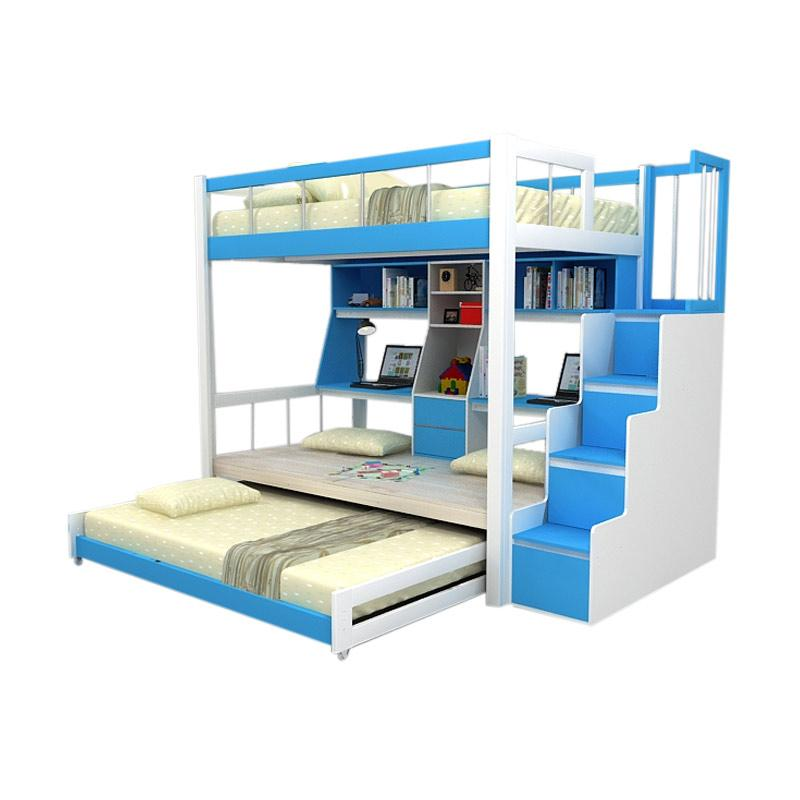 harga Funkids Nouva 01-120 TL WT-AB Tempat Tidur Anak - Blue Blibli.com
