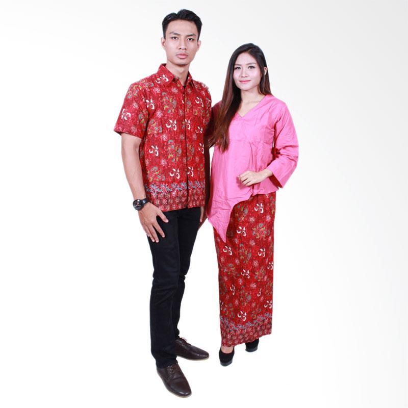 Batik Putri Ayu Solo SRD504 Batik Sarimbit Dress Baju Batik Couple - Pink