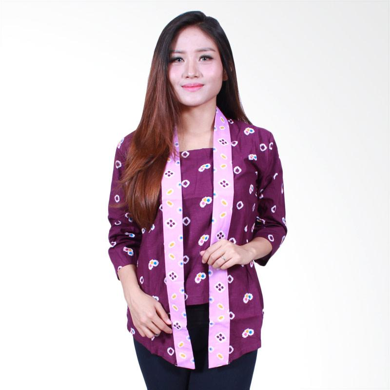 Batik Putri Ayu Solo B501 Blouse Batik Kutubaru - Ungu