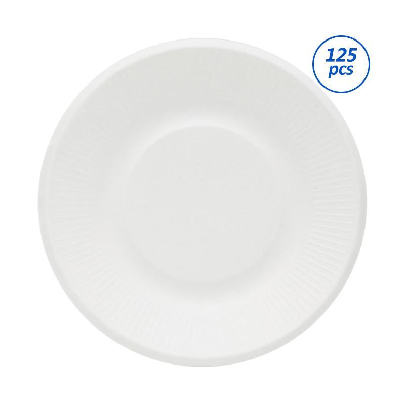 Avani Bagasse Edge Plate [8 Inch/125 Pcs]