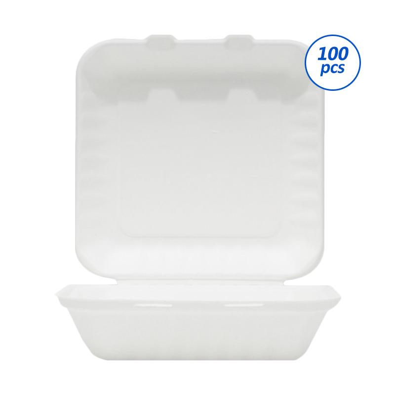 Avani Bagasse Food Box 9 Inch [100 pieces/pack]