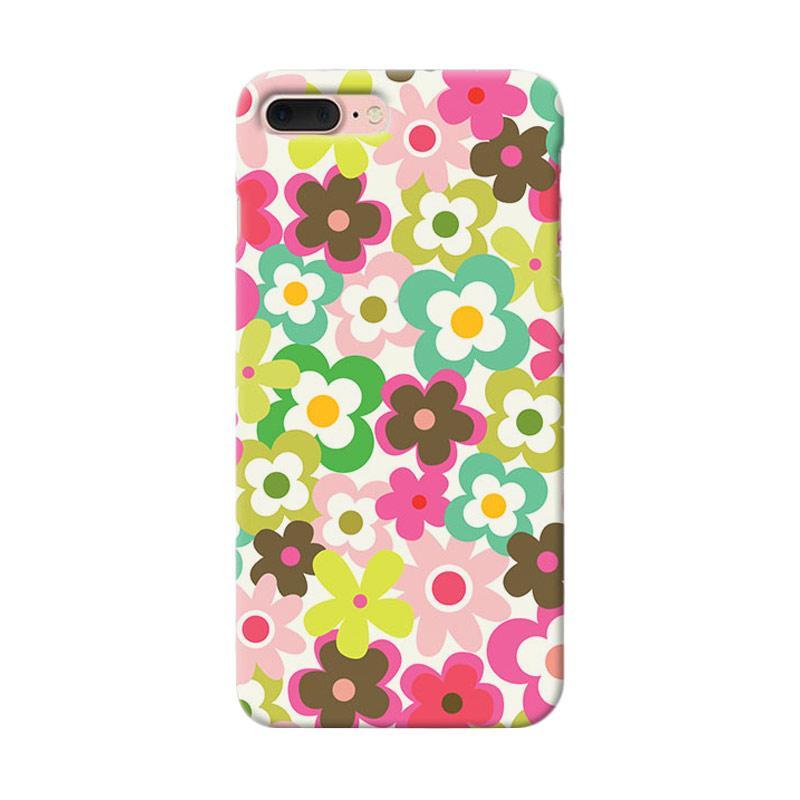 Premiumcaseid Cute Colorful Flower Hardcase Casing for iPhone 8 Plus