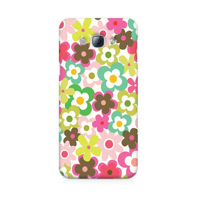 Premiumcaseid Cute Colorful Flower Hardcase Casing for Samsung Galaxy A8