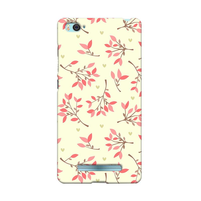 Premiumcaseid Cute Floral Seamless Shabby Hardcase Casing for Xiaomi Mi 4i