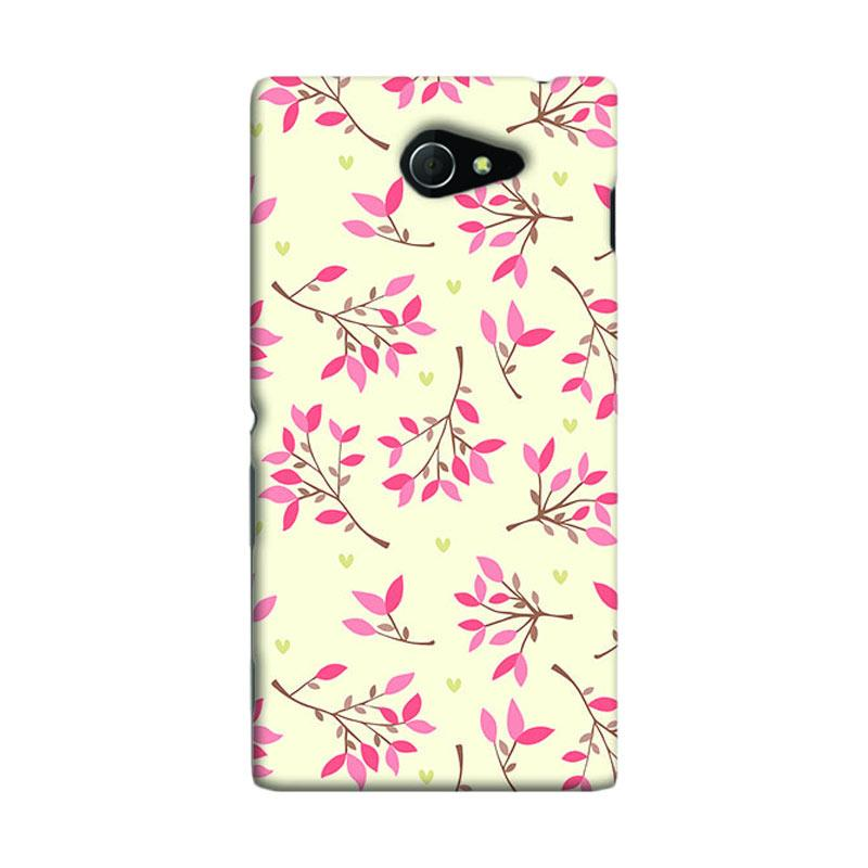 Premiumcaseid Cute Floral Seamless Shabby Hardcase Casing for Sony Xperia M2