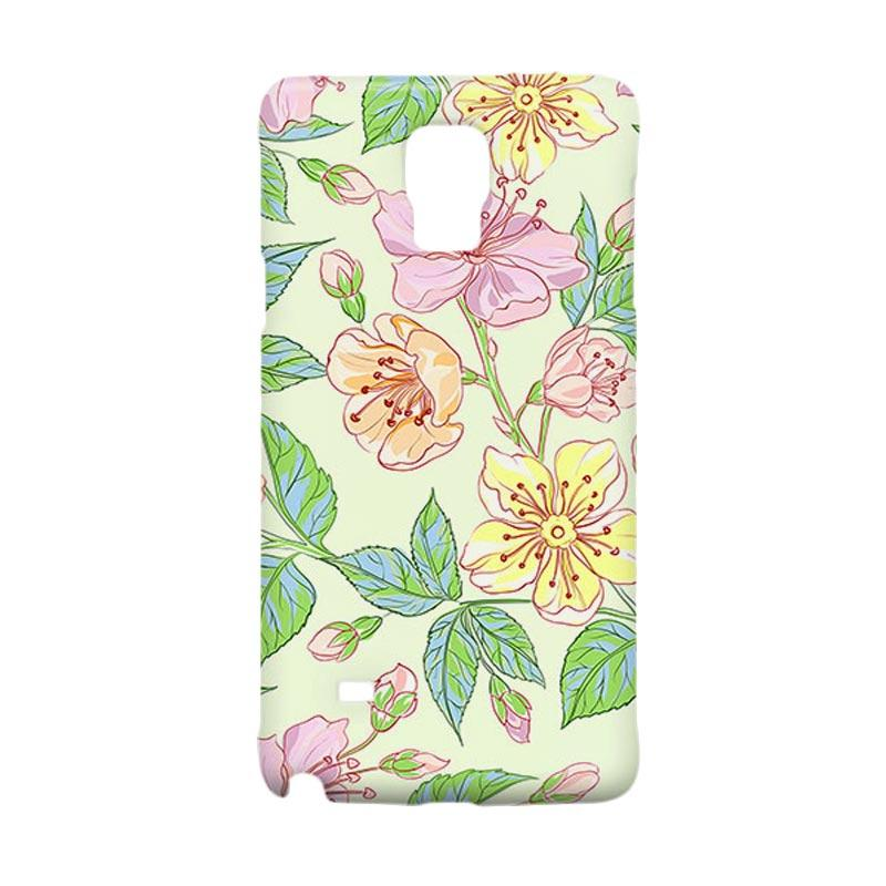 Premiumcaseid Beautiful Flower Wallpaper Hardcover Casing for Samsung Galaxy Note 4