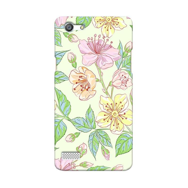 Premiumcaseid Beautiful Flower Wallpaper Hardcase Casing for Oppo Neo 7 or A33
