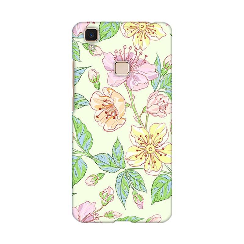 Premiumcaseid Beautiful Flower Wallpaper Hardcase Casing for Vivo V3