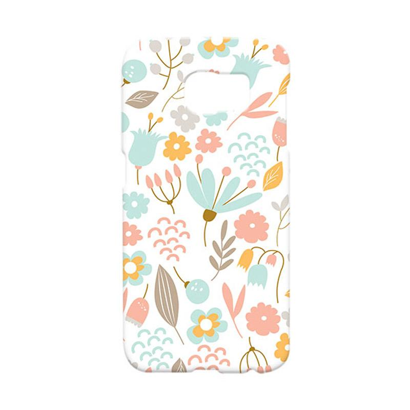 Premiumcaseid Cute Pastel Shabby Chic Floral Hardcase Casing for Samsung Galaxy S6 Edge