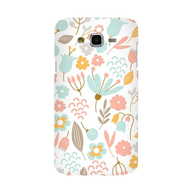 Premiumcaseid Cute Pastel Shabby Chic Floral Cover Hardcase Casing for Samsung Galaxy J7