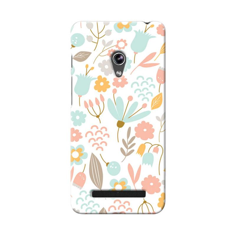 Premiumcaseid Cute Pastel Shabby Chic Floral Hardcase Casing for Asus Zenfone 5