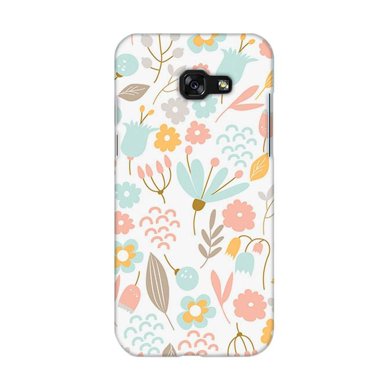 Premiumcaseid Cute Pastel Shabby Chic Floral Hardcase Casing for Samsung Galaxy A5 2017