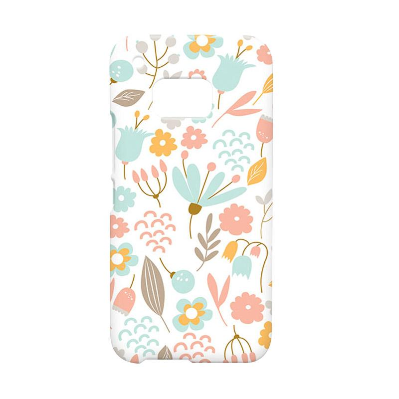 Premiumcaseid Cute Pastel Shabby Chic Floral Hardcase Casing for HTC One M9