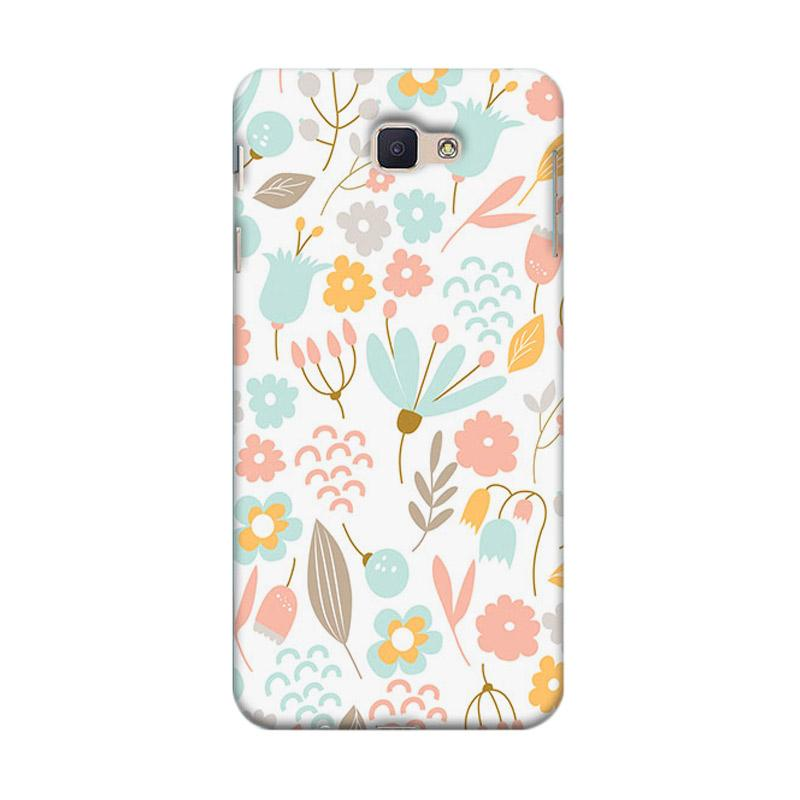 Premiumcaseid Cute Pastel Shabby Chic Floral Cover Hardcase Casing for Samsung Galaxy J7 Prime