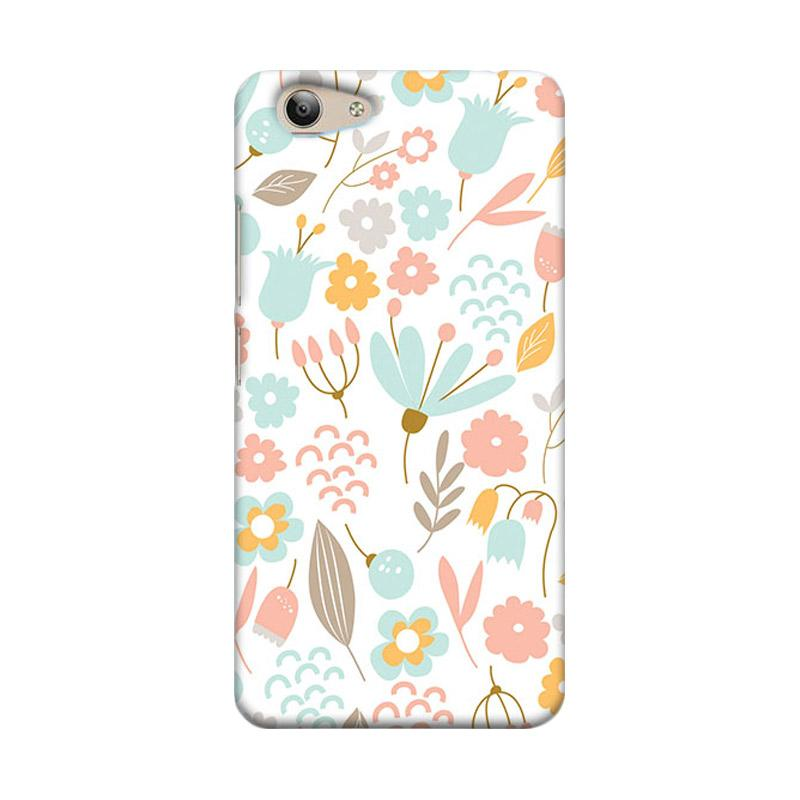 Premiumcaseid Cute Pastel Shabby Chic Floral Hardcase Casing for Vivo Y53