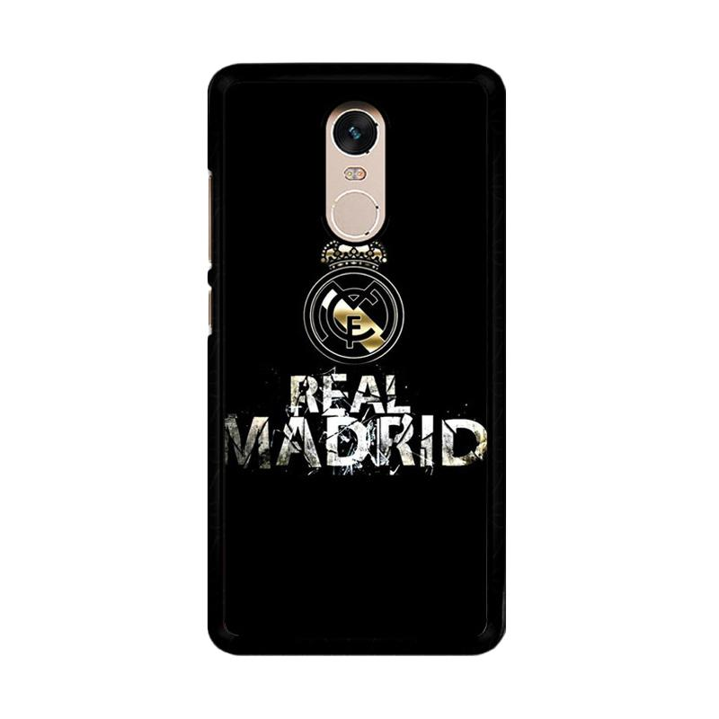 Flazzstore Real Madrid Logo O1047 Custom Casing for Xiaomi Redmi Note 4 or Note 4X Snapdragon Mediatek