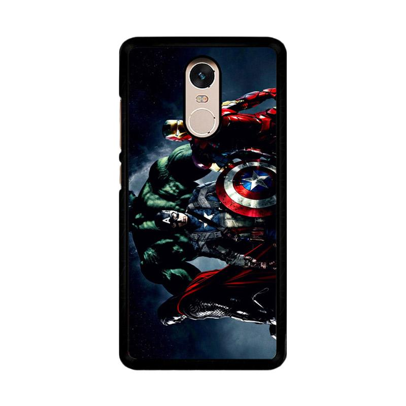 Flazzstore Avenger Captain America Thor Hulk And Iron Man F0152 Custom Casing for Xiaomi Redmi Note 4 or Note 4X Snapdragon Mediatek