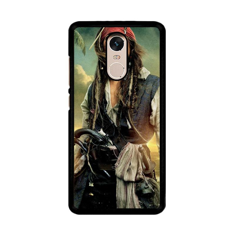 Flazzstore Captain Jack Sparrow F0344 Custom Casing for Xiaomi Redmi Note 4 or Note 4X Snapdragon Mediatek