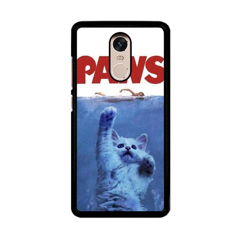 Flazzstore Paws Ovie Parody Funny Cat Attack F0586 Custom Casing for Xiaomi Redmi Note 4 or Note 4X Snapdragon Mediatek