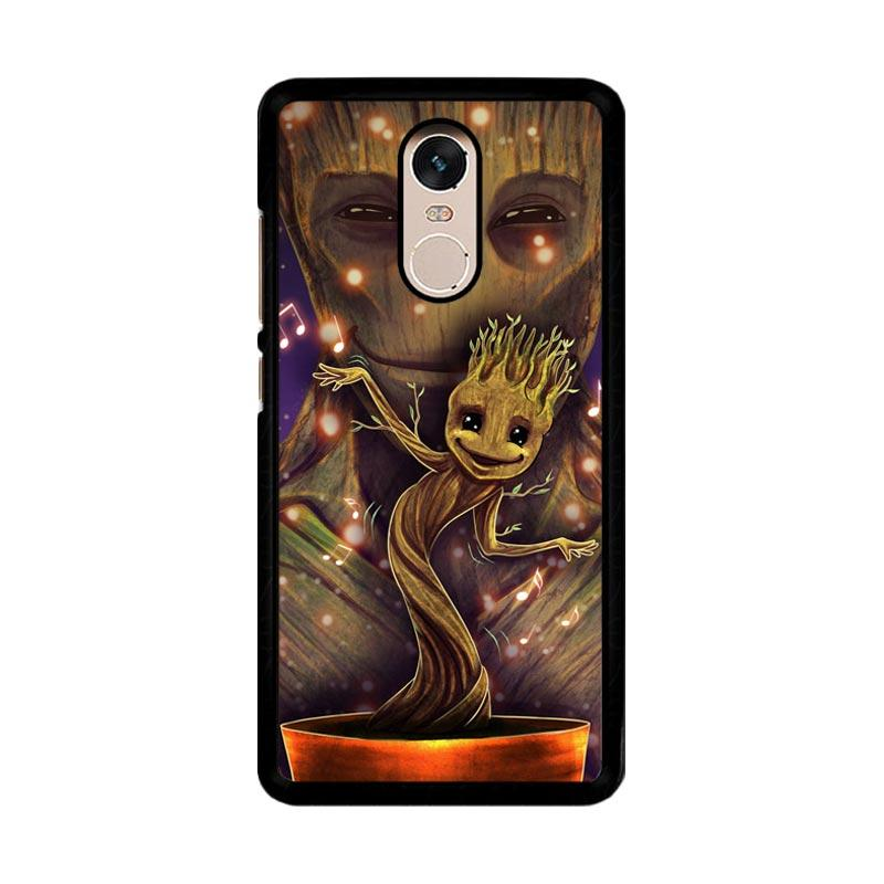 Flazzstore Groot Dancing And Smile Z0190 Custom Casing for Xiaomi Redmi Note 4 or Note 4X Snapdragon Mediatek