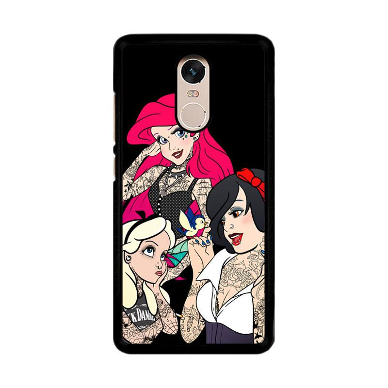 Flazzstore Snow Ariel And Alice Punk Tattoos Disney Princess Z0207 Custom Casing for Xiaomi Redmi Note 4 or Note 4X Snapdragon Mediatek