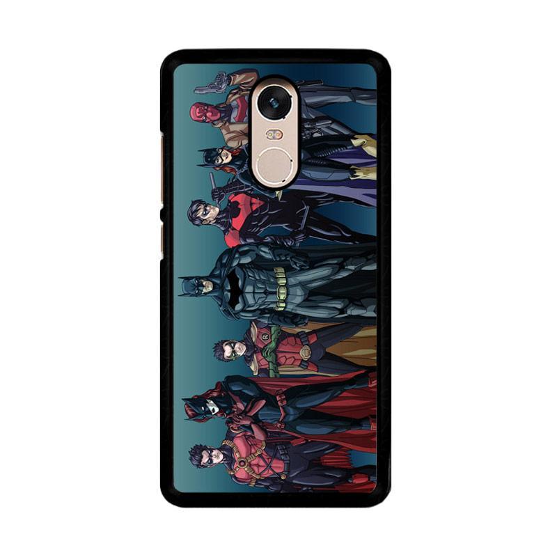 Flazzstore Batman Batfamily Z0351 Custom Casing for Xiaomi Redmi Note 4 or Note 4X Snapdragon Mediatek