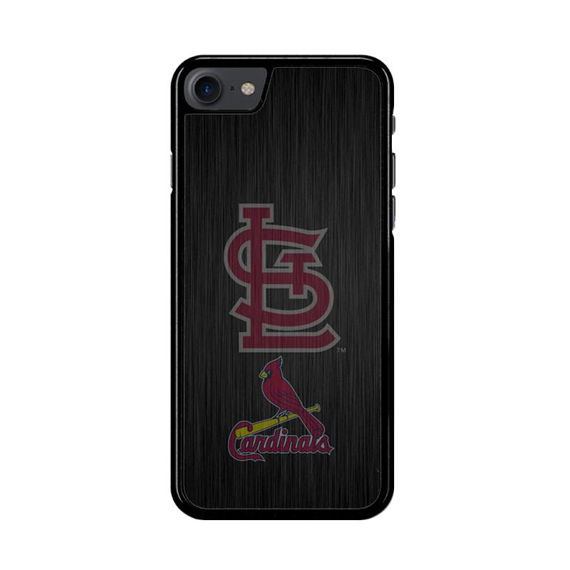 Flazzstore St. Louis Cardinals Logo Wood Z4064 Custom Casing for iPhone 7 or 8