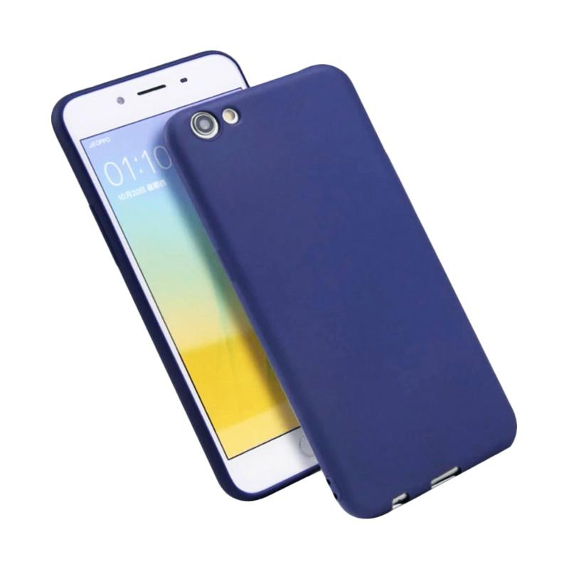 Lize Design Slim Anti Glare Silikon Casing for Oppo F3 - Biru Tua