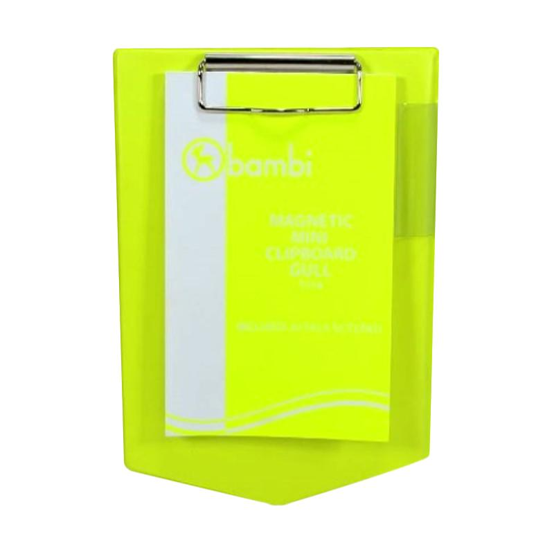Bambi 7074 Mangnetic Mini Clipboard Gull - Yellow