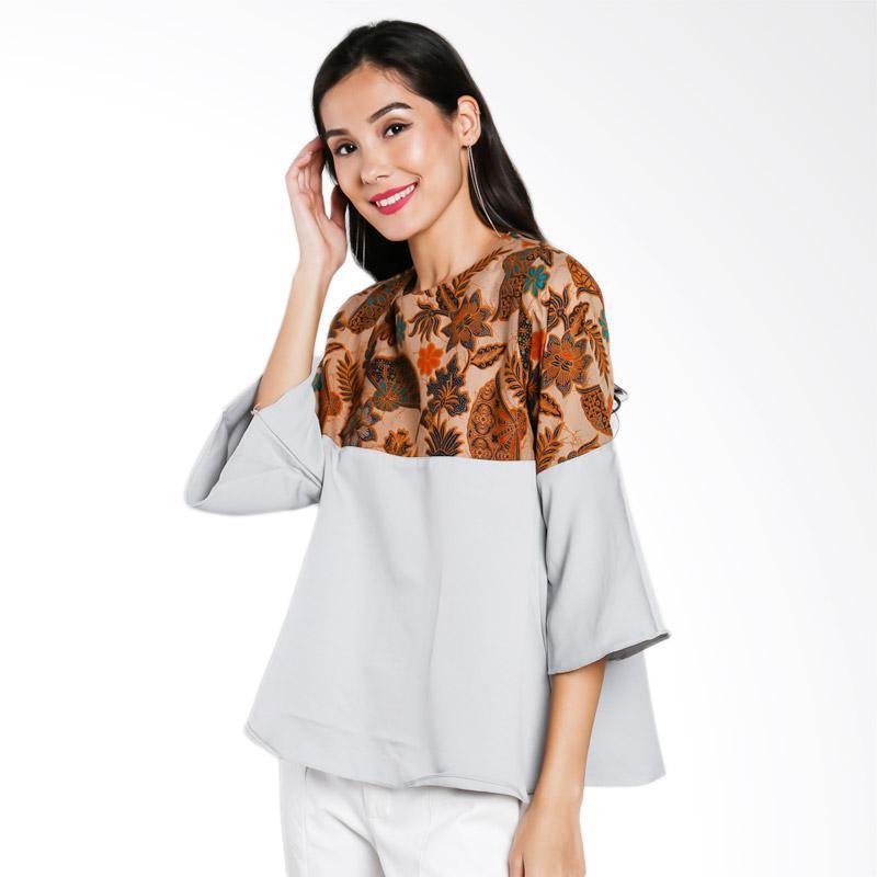 Jening Batik JW-024 Blouse - Grey