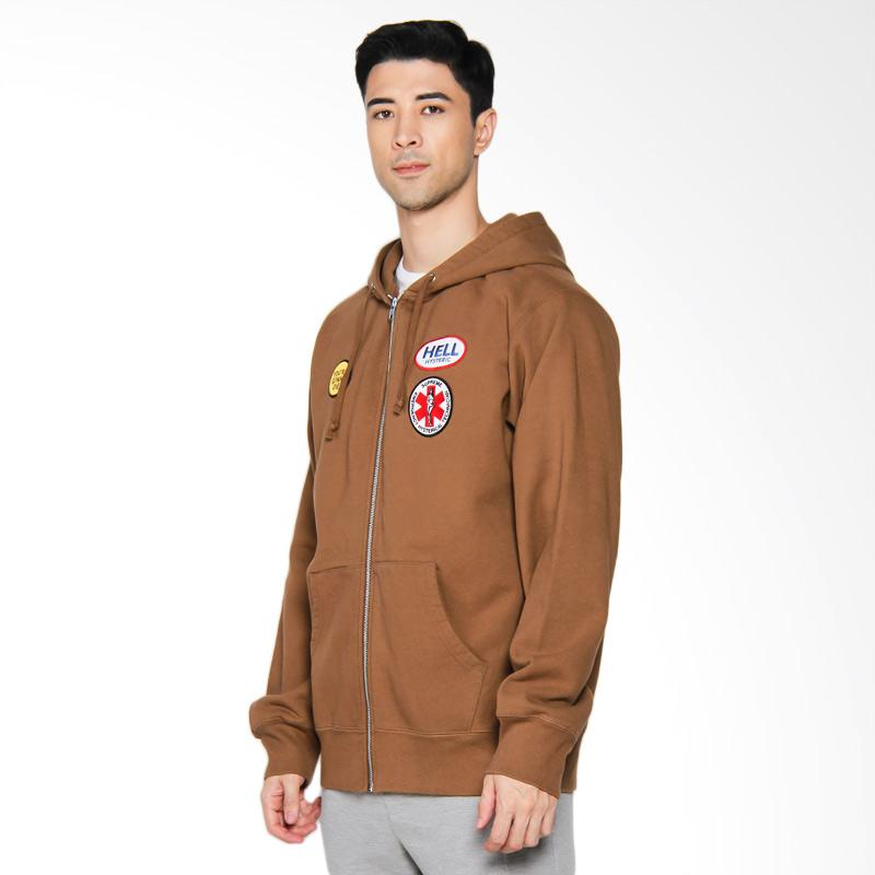 Supreme New York Hysteric Glamour Patches Zip-Up Sweatshirt - Brown