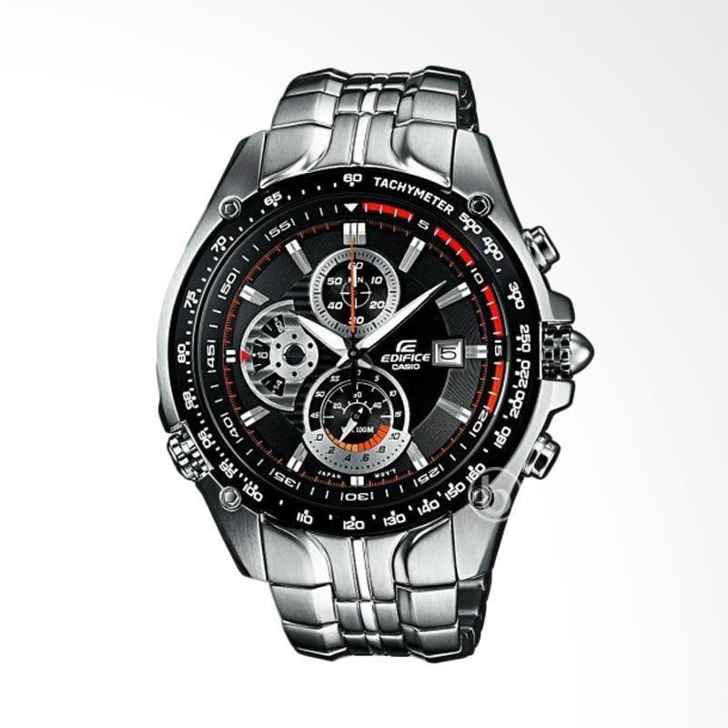 harga CASIO Edifice Chronograph Retrograde Dial Jam Tangan Pria - Black [EF-543D-1A] Blibli.com