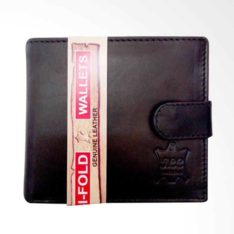I.L.C Dompet Pria Full Kulit asli with Coin Pocket,Slim Wallet-Hitam